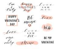 Frases do dia de Valentim imagem de stock