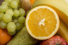 Frash Fruit, Orange, apple, banana,pear, grapes Stock Image