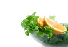 Frash orange and lettuce Royalty Free Stock Image