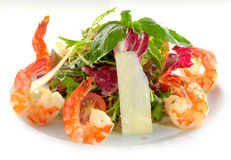 Frash salad with shrimp Royalty Free Stock Photo
