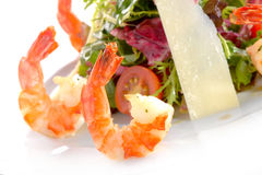 Frash salad with shrimp Stock Photography