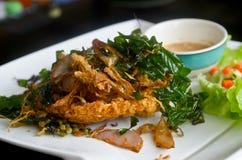 Frasig fisksallad för thailändsk mat Royaltyfria Bilder