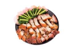 Frasig grisköttbuk på vit bakgrund Arkivbild