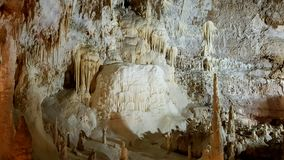 Frassassi`s cave with stalactities. The Amazing Frasassi`s cave with his big 5 rooms and long stalactities stock image