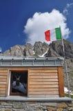 Frassati山小屋,意大利阿尔卑斯,瓦莱达奥斯塔。 免版税库存图片