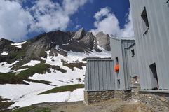 Frassati mountain hut, Italian Alps, Aosta Valley. Royalty Free Stock Images