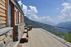 Frassati mountain hut, Italian Alps, Aosta Valley. Royalty Free Stock Photo