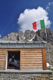 Frassati mountain hut, Italian Alps, Aosta Valley. Royalty Free Stock Image