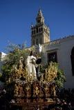 Fratellanza del bacio di Giuda, settimana santa in Siviglia, la Spagna Fotografia Stock