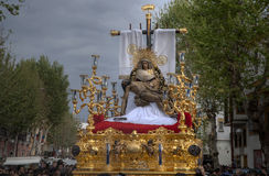Fratellanza del mercato, settimana santa in Siviglia Fotografia Stock Libera da Diritti