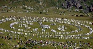 Fratellanza di bianco della montagna della Bulgaria Rila Fotografia Stock