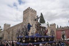 Fratellanza di Cerro del Aguila, Pasqua in Siviglia Fotografie Stock