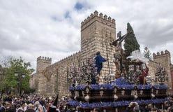 Fratellanza di Cerro del Aguila, Pasqua in Siviglia Immagini Stock Libere da Diritti
