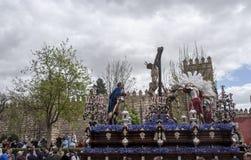 Fratellanza di Cerro del Aguila, Pasqua in Siviglia Immagini Stock