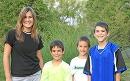 Fratelli e sorella Fotografia Stock