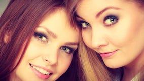 Fratelli germani femminili positivi affascinanti Fotografia Stock