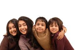 Fratelli indiani e tre sorelle Immagini Stock Libere da Diritti