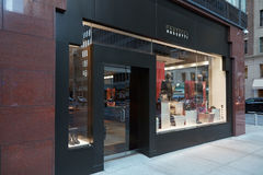 Fratelli Rossetti lageryttersida i Madison Ave, New York Royaltyfri Bild