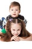 Fratello con la sorella fotografia stock libera da diritti