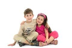 Fratello e la sorella Immagini Stock