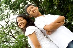 Fratello e sorella Fotografie Stock Libere da Diritti