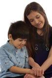 Fratello e sorella Immagine Stock