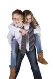 Fratello e sorella che Goofing intorno fotografia stock