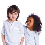 Fratello e sorella nello studio fotografie stock