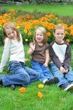 Fratello e sorelle Fotografie Stock Libere da Diritti