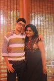 Fratello indiano e sorella che abbracciano felicemente Fotografia Stock Libera da Diritti