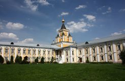 The fraternal Corps and Who Sorrow Church. St. Nicholas Ugreshsky monastery. Stock Photography