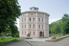Fraternal housing. Man monastery in the Caucasus, cell for the monks stock photos