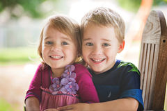 Fraternal Twins Royalty Free Stock Photos