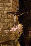 Fraternidade de Santa Cruz na Semana Santa em Sevilha Foto de Stock