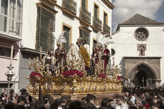 Fraternidades de la penitencia de la semana santa en Sevilla, Carmen Painful Foto de archivo libre de regalías