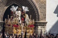 Fraternidades de la penitencia de la semana santa en Sevilla, Carmen Painful Imagen de archivo