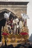 Fraternidades de la penitencia de la semana santa en Sevilla, Carmen Painful Fotografía de archivo libre de regalías