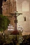 Fraternité de l'amour du ` s du Christ, semaine sainte en Séville Images stock