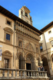 Fraternita deiLaici slott i Arezzo Royaltyfria Foton