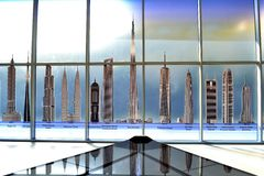Fraternity de Burj Khalifa Image stock