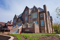 Fraternity e casas do círculo estudantil feminino na universidade estadual de Iowa Fotos de Stock Royalty Free