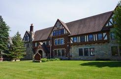 Fraternity y casas de la hermandad de mujeres en la universidad de estado de Iowa Imágenes de archivo libres de regalías