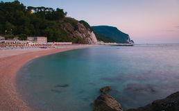 Frati beach, Monte Conero Stock Photos