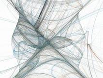 Frattale astratto blu grigio con le gambe curve Immagini Stock