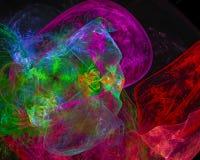 Frattale astratto di progettazione di caos di forma di Digital, moderno, potere, energia grafica illustrazione di stock