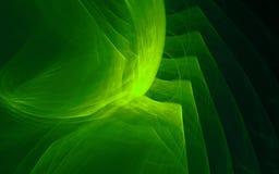 Frattale astratto verde Grafici generati da calcolatore Illustrazione Vettoriale