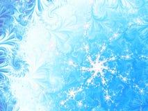 Frattale del fiocco di neve e del ghiaccio Fotografia Stock Libera da Diritti