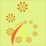 Frattale di autunno Picchiettio di vettore per progettazione illustrazione vettoriale