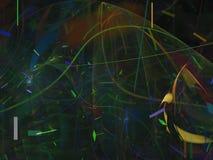Frattale di sogno etereo dinamico surreale dell'estratto di Digital, progettazione di struttura, esclusiva di caos illustrazione vettoriale