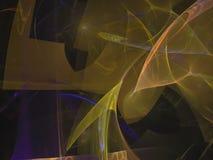 Frattale digitale astratto di caos di forma di moto, progettazione generata dinamica della decorazione di energia magica di fanta illustrazione di stock